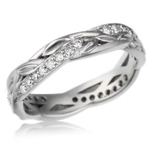 Woven Vine Diamond Wedding Band