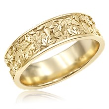 Maple Leaf Wedding Band
