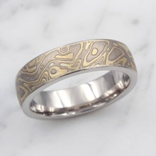 Summer Mokume Wedding Band