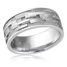 Platinum Klimt Eternity Wedding Band