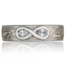 Mokume Diamond Infinity Band - top view