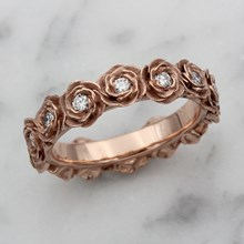 Ring O Roses With White Diamonds