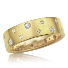 Galaxy Scattered Diamond Wedding Band