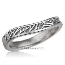 Contoured Tree of Life Wedding Band