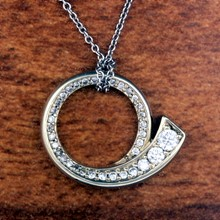 Journey Circle Pendant - top view