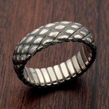 Dragon Scales Wedding Band
