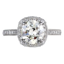 Classic Halo Engagement Ring - top view