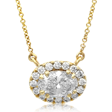 Diamond Halo Pendant - top view