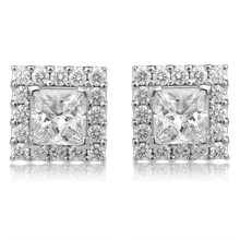 Princess Halo Stud Earrings