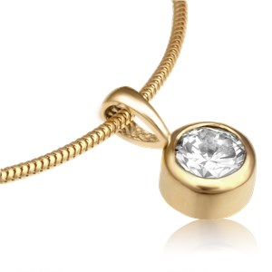 Diamond bezel pendant aloadofball Choice Image