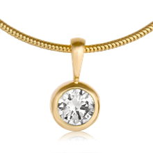 Diamond Bezel Pendant - top view