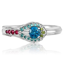 Peacock Engagement Ring - top view