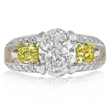 Three Stone Juicy Light Engagement Ring - top view