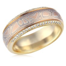Mokume Spinning Ring