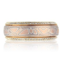 Mokume Spinning Ring - top view