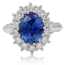 Princess Diana Engagement Ring - top view