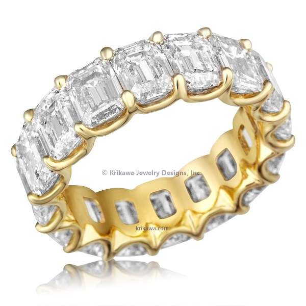 Luxury Emerald Cut Diamond Eternity Band