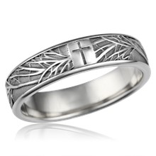 Tree Of Life Cross Wedding Band