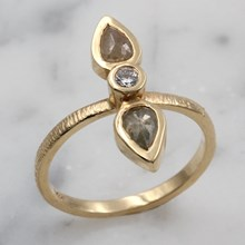 Double Raw Diamond Ring