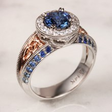 Vintage Celtic Knot Engagement Ring With Sapphire