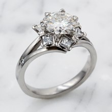 Snowflake Engagement Ring In Palladium