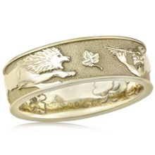 Lion Grapevine Satyr Wedding Band