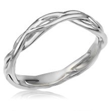 Contoured Embracing Branch Wedding Band