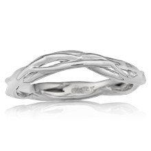 Contoured Embracing Branch Wedding Band - top view