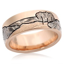 Mountain Beach Wedding Band