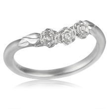 Contoured Rose Trio Wedding Band