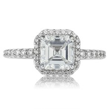 Secret Halo Engagement Ring - top view