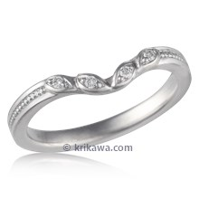 Contoured Leaf Wedding Band