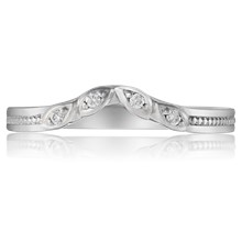 Contoured Leaf Wedding Band - top view