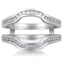 Custom Ring Enhancer With Diamond Channel - top view