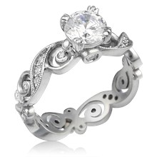 Infinity Leaf Engagement Ring