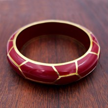 Giraffe Burgundy Resin Bangle