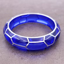 Giraffe Tanzanite Resin Bangle