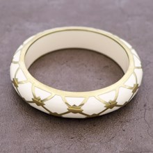 Burberry Ivory Resin Bangle
