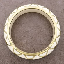 Burberry Ivory Resin Bangle - top view