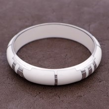 Quadrant White Resin Bangle