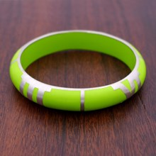 Quadrant Lime Resin Bangle