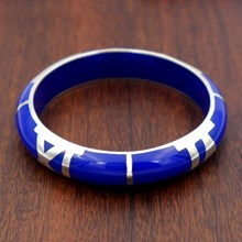 Quadrant Lapis Resin Bangle