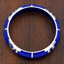 Quadrant Lapis Resin Bangle - top view
