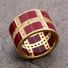 No Name Burgundy Resin Ring