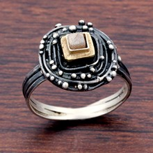 Silver And Diamond Nest Ring