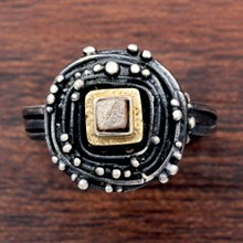 Silver And Diamond Nest Ring - top view