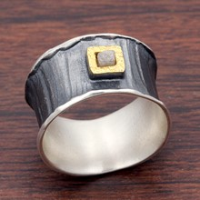 Silver And Raw Diamond Cigar Band