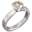 Mokume Solitaire Tapered Engagement Ring with Champagne