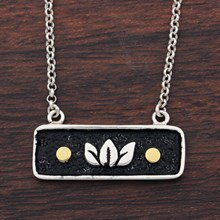 Lotus Bar Necklace - top view
