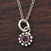 Small Flower Charm - top view